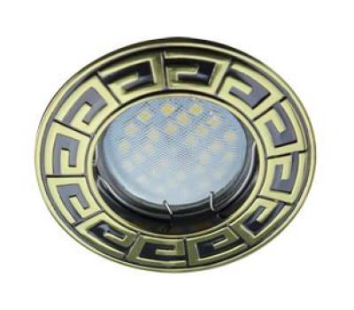 НОВИНКА!Светильник Ecola MR16 DL110А GU5.3 встр. литой Антик Чёрный Хром/Золото 24х86 Solnechnogorsk