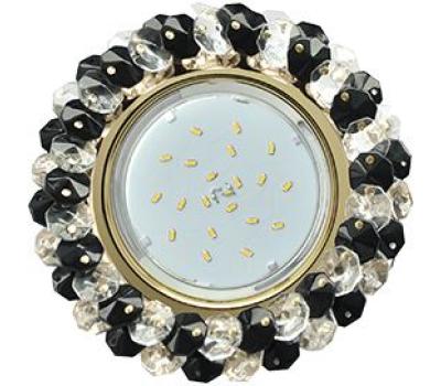 Ecola GX53 H4 Glass Круглый с хрусталиками прозрачный и черный/ золото 56x120 Solnechnogorsk