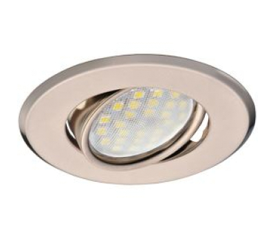 Светильник Ecola MR16 DH09 GU5.3 встр. поворотный плоский (скрытый крепеж лампы) Сатин-Хром 25x90 Solnechnogorsk