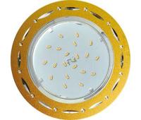 Ecola GX53 H4 DL5385  светильник встраив. без рефл. Точки-полоски по кругу матовое Золото/Алюм 20x110 (к+) Solnechnogorsk