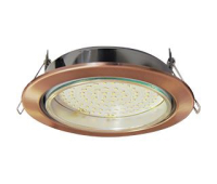 Встраиваемый потолочный точечный светильник-спот Экола GX70 H5 без рефлектора. Чернёная медь. Solnechnogorsk