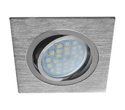 Ecola MR16 DL205 GU5.3 Светильник встр. литой поворотный Квадрат Шлифованный алюминий / Хром 25x92x92 Solnechnogorsk