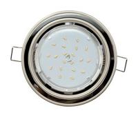 Ecola GX53 H4 светильник встраив. без рефл. 2 цв. жемчуг-черный хром-жемчуг 38х106 Solnechnogorsk