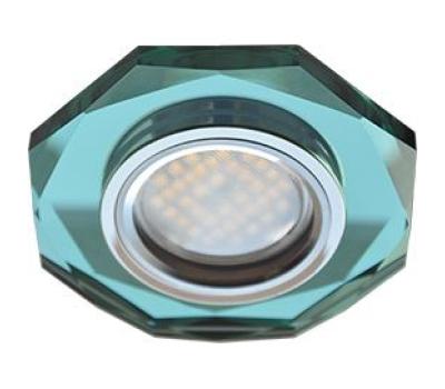 Ecola MR16 DL1652 GU5.3 Glass Стекло 8-угольник с прямыми гранями Изумруд / Хром 25x90 Solnechnogorsk