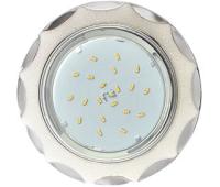 Ecola GX53 H4 DL3902 светильник встраив. без рефл.  Звезда под стеклом Белый блеск / хром 106х38 (к+) Solnechnogorsk