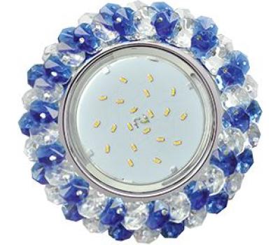 Ecola GX53 H4 Glass Круглый с хрусталиками прозрачный и голубой / Хром 56x120 Solnechnogorsk
