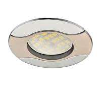 НОВИНКА!Светильник Ecola MR16 HL029 GU5.3 встр. литой Волна (скрытый крепёж лампы) Сатин-Хром/Хром 22х82 Solnechnogorsk