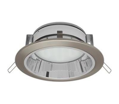 Встраиваемый потолочный точечный светильник-спот Экола GX70 H6Rс рефлектором. Сатин-Хром. Solnechnogorsk