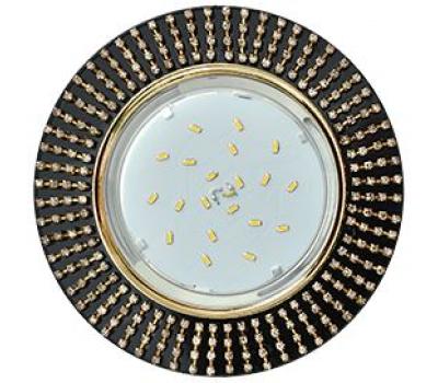 Ecola GX53 H4 5364 Glass Круг с прозр.стразами (оправа золото)/фон черн./центр.часть золото 40x120 (к+) Solnechnogorsk