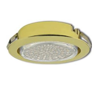 Ecola GX53 DL Светильник Встраиваемый (для тверд.пов. и мебели Золото 26х103 Solnechnogorsk