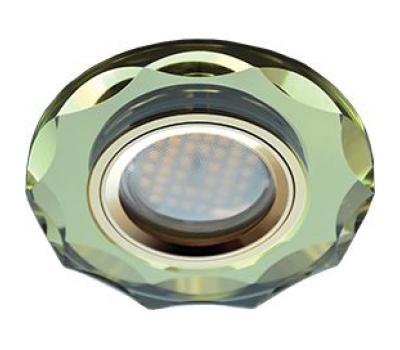Ecola MR16 DL1653 GU5.3 Glass Стекло Круг с вогнутыми гранями Золото / Золото 25x90 Solnechnogorsk