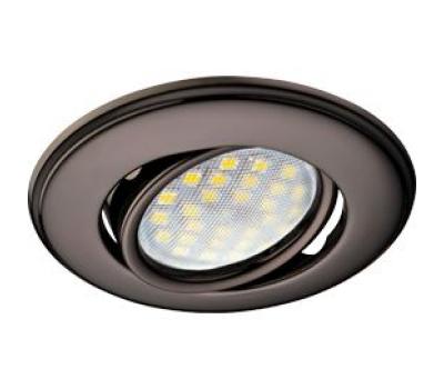 Светильник Ecola MR16 DH03 GU5.3 встр. поворотный выпуклый (скрытый крепеж лампы) Черный Хром 25x88 Solnechnogorsk