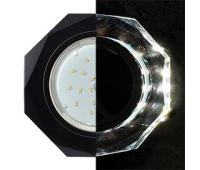 Ecola GX53 H4 LD5312 Glass Стекло 8-угольник с прямыми гранями с подсветкой  черный хром - черный 38x133 (к+) Solnechnogorsk