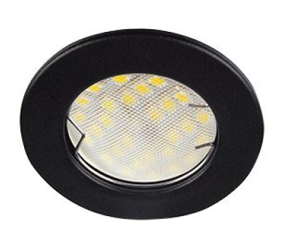 Ecola Light MR16 DL90 GU5.3 Светильник встр. плоский Черный матовый 30x80 (кd74) Solnechnogorsk