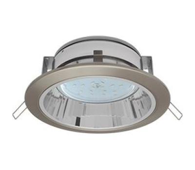 Встраиваемый потолочныйсветильник-спот Ecola GX53 H2R.C рефлектором. Сатин-Хром. Solnechnogorsk