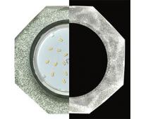 Ecola GX53 H4 LD5312 Glass Стекло 8-угольник с прямыми гранями с подсветкой  хром - серебряный блеск 38x133 (к+) Solnechnogorsk