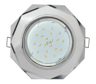 Ecola GX53 H4 Glass Стекло 8-угольник с прямыми гранями хром - хром (зеркальный) 38x133 Solnechnogorsk