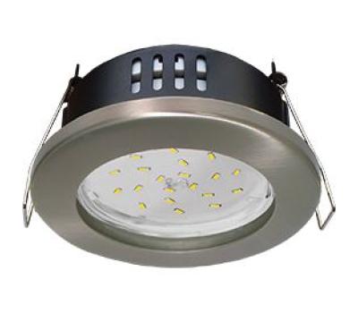 Ecola GX53 H9 защищенный IP65 светильник встраив.  без рефлектора сатин - хром  98*55 Solnechnogorsk
