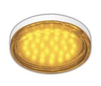 Ecola GX53   LED color  4,4W Tablet 220V Yellow Желтый прозрачное стекло 27x74 Solnechnogorsk