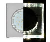 Ecola GX53 H4 LD5311 Glass Стекло Квадрат скошенный край с подсветкой  хром - хром (зеркальный) 38x120x120 (к+) Solnechnogorsk
