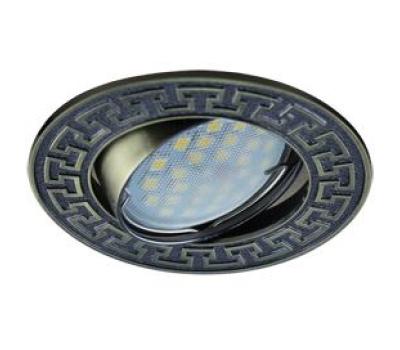 НОВИНКА!Светильник Ecola MR16 DL111 GU5.3 встр. литой поворотный Антик2 Чернёная Бронза 24х88 Solnechnogorsk