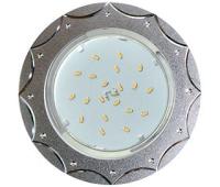 Ecola GX53 H4 DL5384  светильник встраив. без рефл. Звезда матовый Хром/Алюм 20x110 (к+) Solnechnogorsk