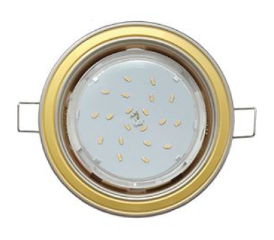 Ecola GX53 H4 светильник встраив. без рефл. 2 цв. жемчуг-золото-жемчуг 38х106 Solnechnogorsk