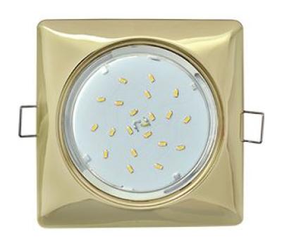 Ecola GX53 H4  Square светильник квадратный без рефл. Золото 107x41 Solnechnogorsk