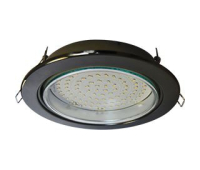 Встраиваемый потолочный точечный светильник-спот Экола GX70 H5 без рефлектора. Черный Хром. Solnechnogorsk