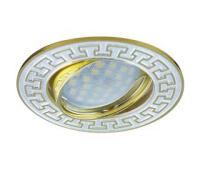 НОВИНКА!Светильник Ecola MR16 DL111 GU5.3 встр. литой поворотный Антик2 Хром/Сатин-Золото 24х88 Solnechnogorsk