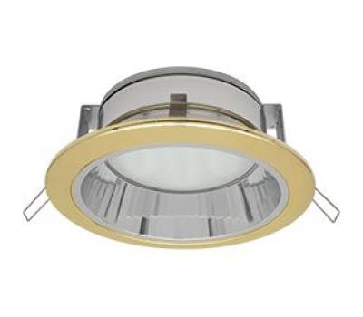 Встраиваемый потолочный точечный светильник-спот Экола GX70 H6Rс рефлектором. Золото Solnechnogorsk