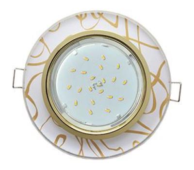 Ecola GX53 H4 Glass Стекло Круг  золото - золото на белом 38x126 Solnechnogorsk