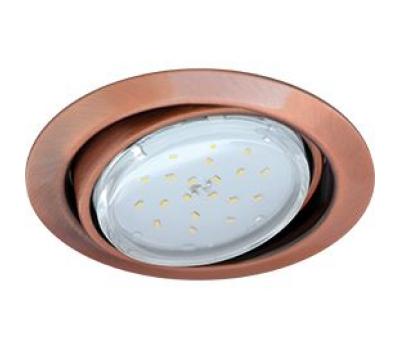 Ecola GX53 FT9073 светильник встраиваемый поворотный черненая медь (antique copper) 40x120 Solnechnogorsk