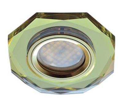 Ecola MR16 DL1652 GU5.3 Glass Стекло 8-угольник с прямыми гранями Золото / Золото 25x90 Solnechnogorsk