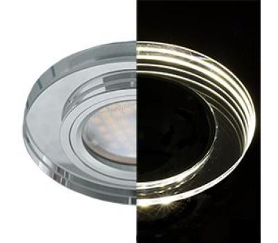 Ecola MR16 LD1650 GU5.3 Glass Стекло с подсветкой Круг Хром / Хром 25x95 (кd74) Solnechnogorsk