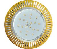 Ecola GX53 H4 DL5383  светильник встраив. без рефл. Рифленые реснички матовое Золото/Алюм 20x110 (к+) Solnechnogorsk