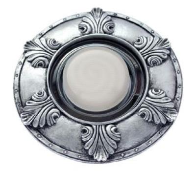"""Ecola накладка широкая гипсовая """"листья"""" для встр. свет-ка GX53 H4 черненое серебро 19х195 Solnechnogorsk"""