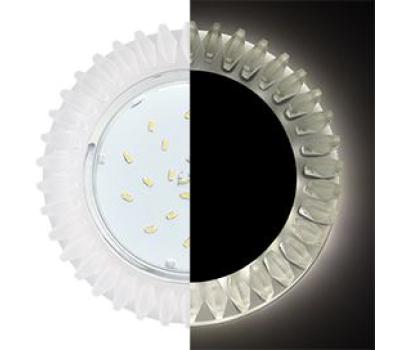Ecola GX53 H4 LD5361 Glass Круг с матовыми стразами Гребенка с подсветкой/фон мат./центр.часть хром 52x120 (к+) Solnechnogorsk