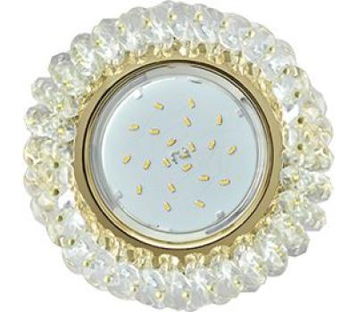 Ecola GX53 H4 Glass Круглый с хрусталиками прозрачный / Золото 56x120 Solnechnogorsk