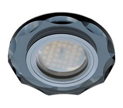 Ecola MR16 DL1653 GU5.3 Glass Стекло Круг с вогнутыми гранями Черный / Черный хром 25x90 Solnechnogorsk