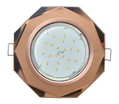Ecola GX53 H4 Glass Стекло 8-угольник с прямыми гранями черненая медь - янтарь 38x133 Solnechnogorsk