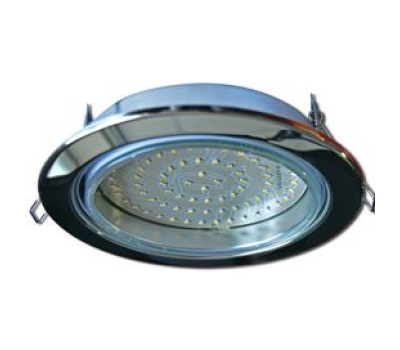 Встраиваемый потолочный точечный светильник-спот Экола GX70 H5 без рефлектора. Хром. Solnechnogorsk