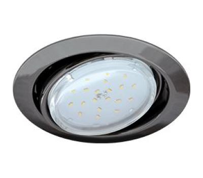 Ecola GX53 FT9073 светильник встраиваемый поворотный черный хром 40x120 Solnechnogorsk