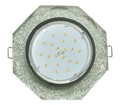 Ecola GX53 H4 Glass Стекло 8-угольник с прямыми гранями  хром - серебряный блеск 38x133 Solnechnogorsk