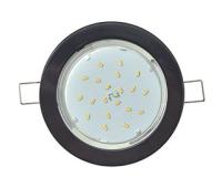 Встраиваемый потолочный Лёгкийсветильник-спот Экола GX53.Без рефлектора. Цвет - Чёрный. Solnechnogorsk