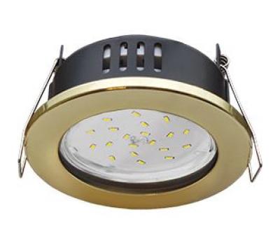 Ecola GX53 H9 защищенный IP65 светильник встраив.  без рефлектора золото 98*55 Solnechnogorsk