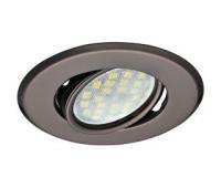 Светильник Ecola MR16 DH09 GU5.3 встр. поворотный плоский (скрытый крепеж лампы) Черный Хром 25x90 Solnechnogorsk