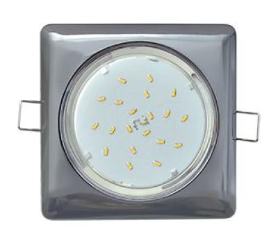Ecola GX53 H4  Square светильник квадратный без рефл. Черный хром 107x41 Solnechnogorsk