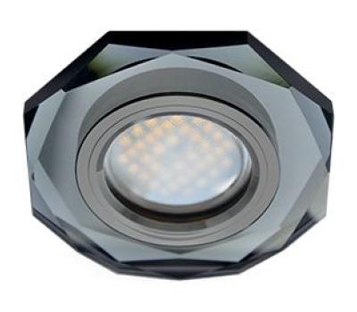 Ecola MR16 DL1652 GU5.3 Glass Стекло 8-угольник с прямыми гранями Черный / Черный хром 25x90 Solnechnogorsk