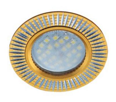 НОВИНКА!Светильник Ecola MR16 DL3182 GU5.3 встр. литой (скрытый крепёж лампы) Рифлёные реснички по кругу Матовое золото/Алюминий 23х78 Solnechnogorsk